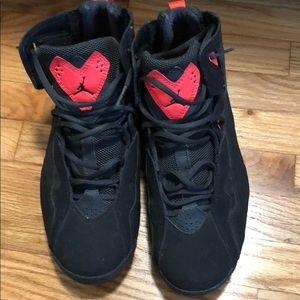 Black infrared Jordan's
